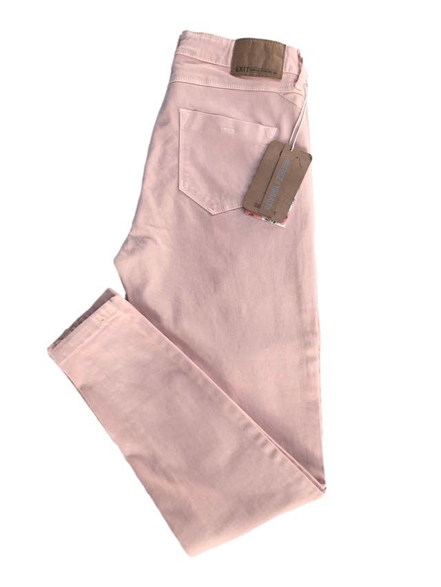 Skinny jean Exit en tono melón, a la cintura, five pocket, 98% algodón con spandex. Cintura 70cm sin estirar Largo 90cm. Nuevo con etiqueta foto 3