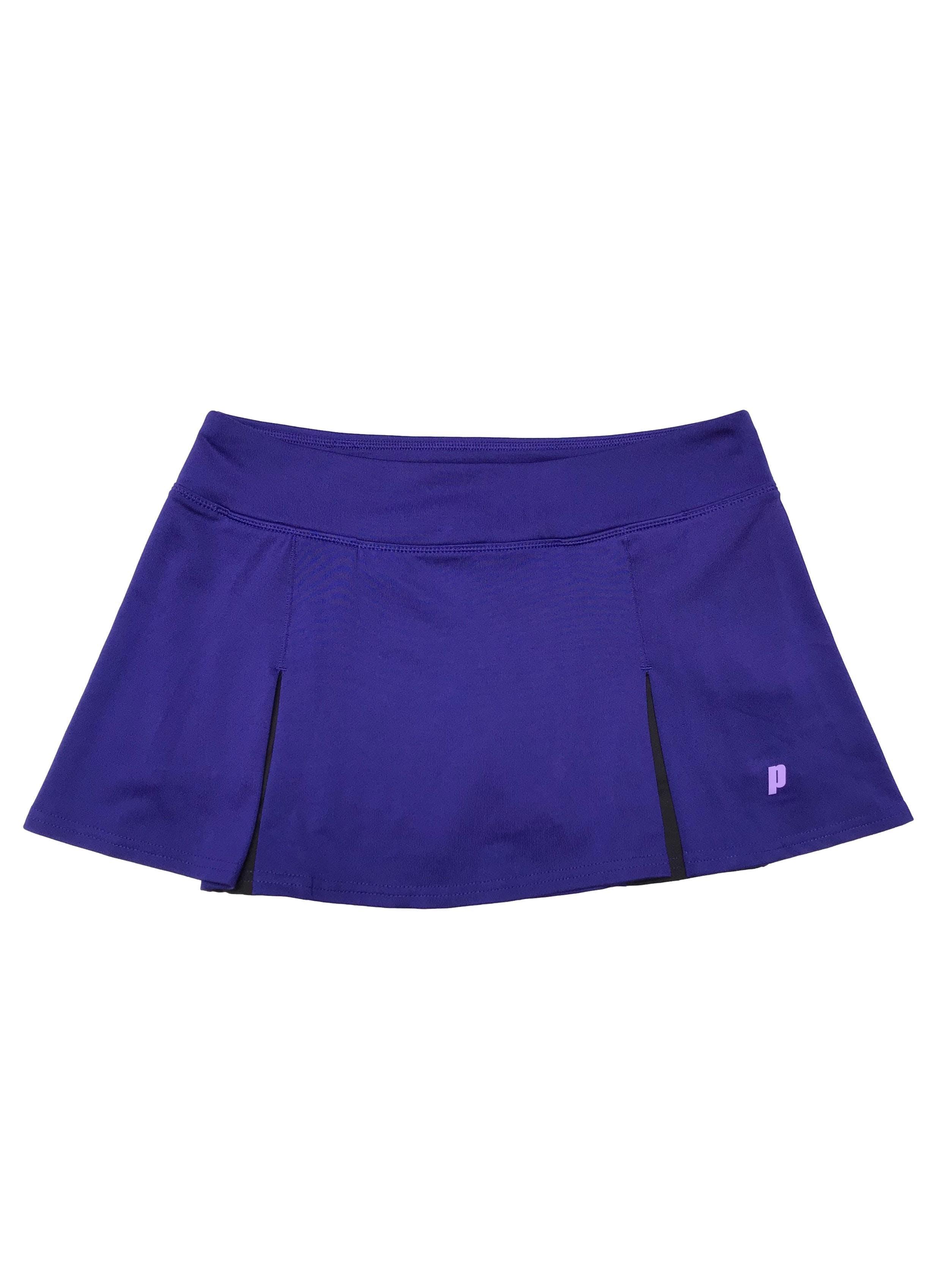 Falda de tennis Prince, con short interno, de lycra. Pretina 76cm sin estirar Largo 30cm