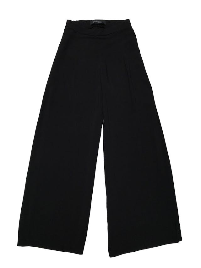 Pantalón palazzo Marquis, 100% viscosa negra, cintura con elástico posterior. Cintura 66cm sin estirar Largo 102cm foto 1