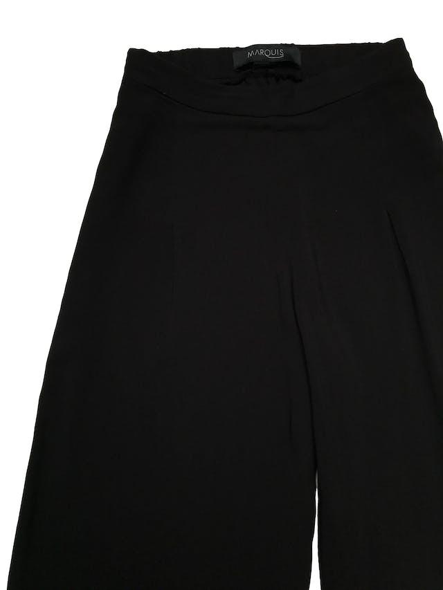 Pantalón palazzo Marquis, 100% viscosa negra, cintura con elástico posterior. Cintura 66cm sin estirar Largo 102cm foto 2
