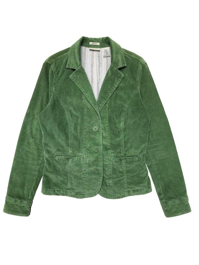 Chaqueta de corduroy verde 98% algodón. Busto 96cm Largo 52cm foto 1