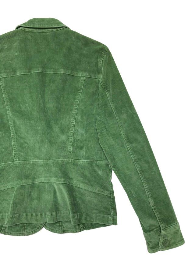 Chaqueta de corduroy verde 98% algodón. Busto 96cm Largo 52cm foto 2