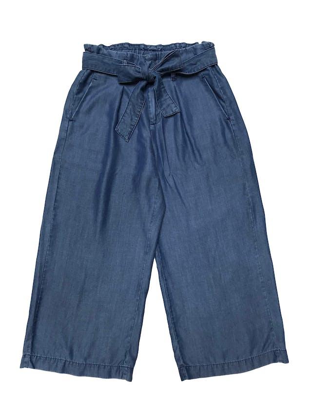 Pantalón Malabar 100% tencel, pretina elástica y cinto para amarrar, tiene bolsillos laterales. Cintura 70cm Largo 88cm foto 1