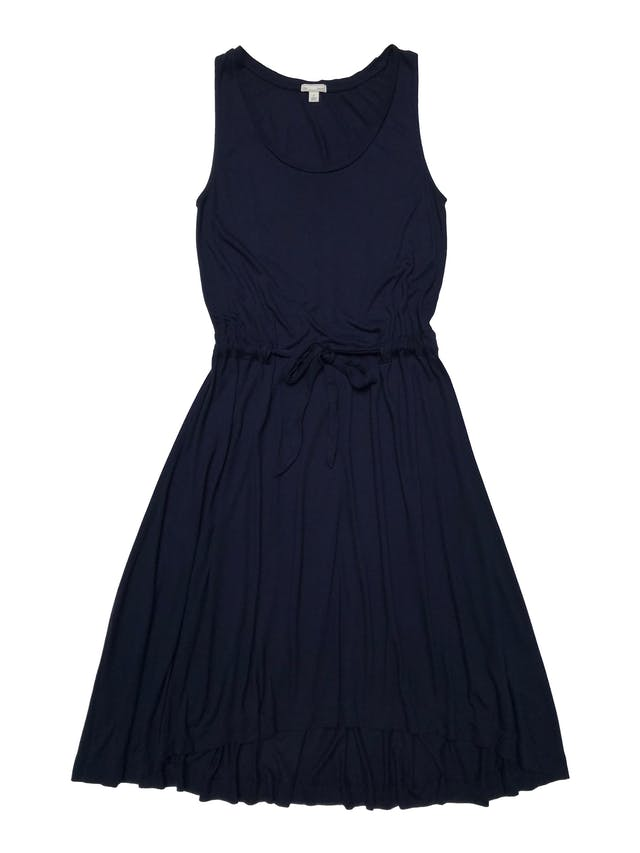 Vestido Gap de rayón azul super rico al tacto, cinto para regular y basta asimétrica. Busto 90cm Largo 100 - 115cm foto 1