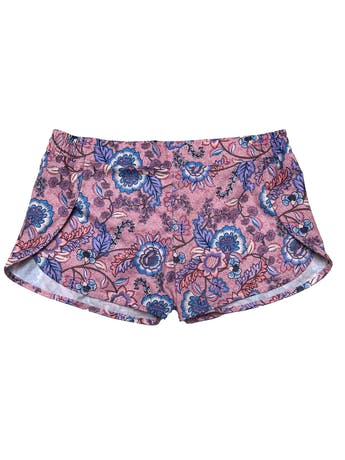 Short Billabong ropa de baño tela estilo impermeable rosa con print de flores. Pretina 80cm Largo 28cm. foto 1
