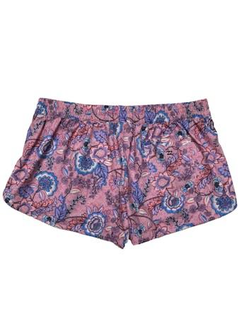 Short Billabong ropa de baño tela estilo impermeable rosa con print de flores. Pretina 80cm Largo 28cm. foto 2