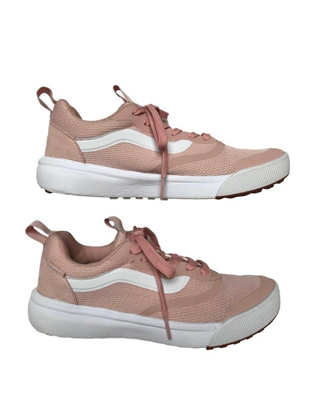 Zapatillas Vans Ultracush palo rosa y blanco. Estado 9/10. Precio original S/ 319 foto 1