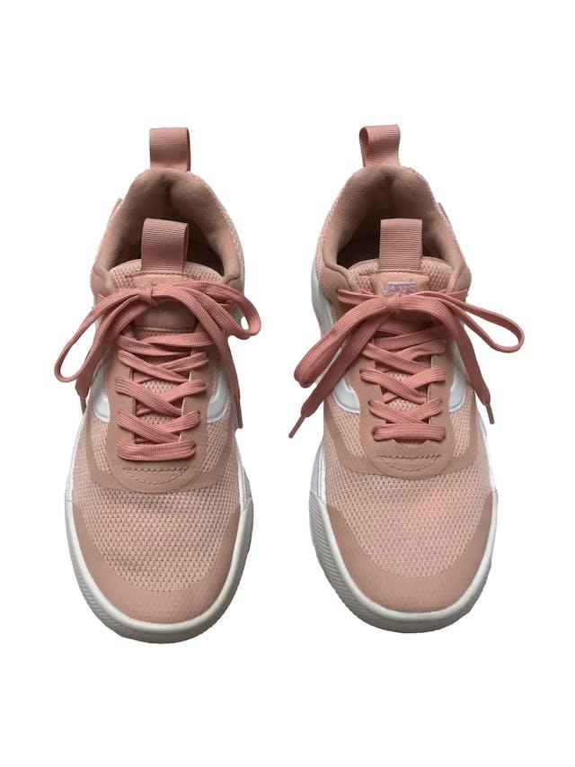 Zapatillas Vans Ultracush palo rosa y blanco. Estado 9/10. Precio original S/ 319 foto 2
