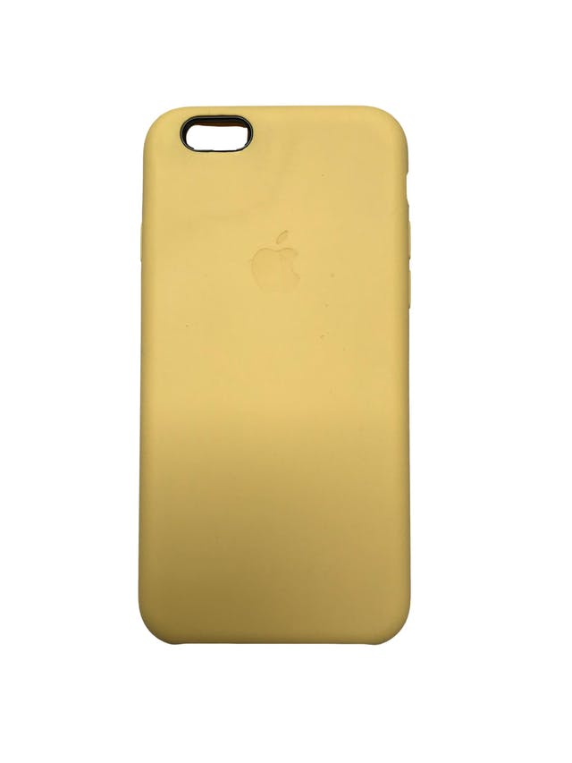 Case Iphone de silicona amarillla con interior agamuzado. Para iPhone 6 / 6s / 7 / 8 / SE foto 1