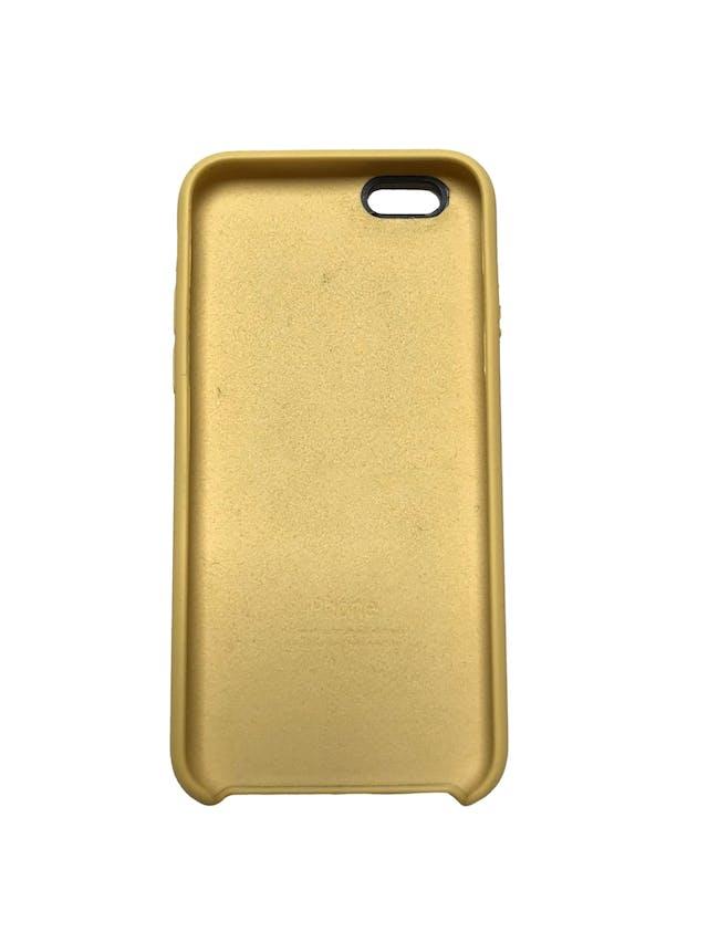 Case Iphone de silicona amarillla con interior agamuzado. Para iPhone 6 / 6s / 7 / 8 / SE foto 2