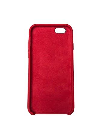 Case Iphone de silicona roja con interior agamuzado. Para iPhone 6 / 6s / 7 / 8 / SE foto 2