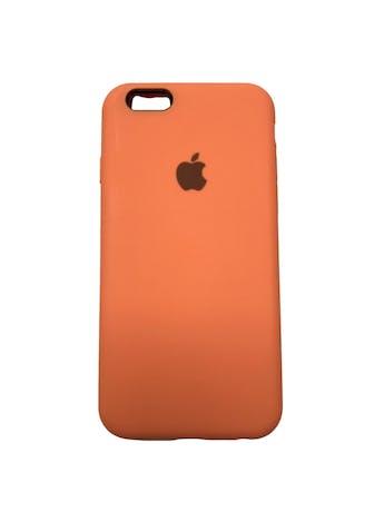 Case Iphone de silicona anaranjada con interior agamuzado. Para iPhone 6 / 6s / 7 / 8 / SE foto 1