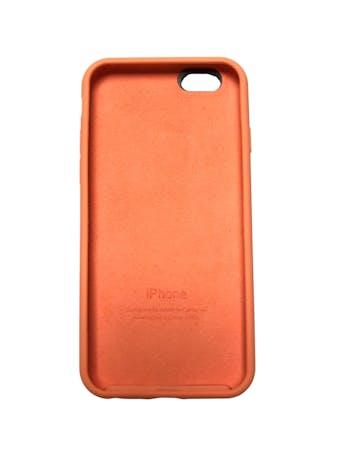 Case Iphone de silicona anaranjada con interior agamuzado. Para iPhone 6 / 6s / 7 / 8 / SE foto 2