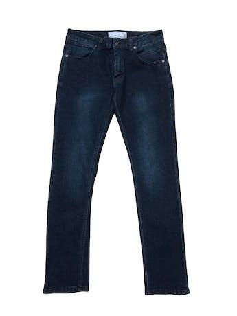 Jean Paper denim&Cloth azul oscuro focalizado, 70% algodón stretch, corte slim y tiro medio. Cintura 78cm Largo 98cm. Precio original $139 foto 1