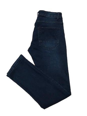 Jean Paper denim&Cloth azul oscuro focalizado, 70% algodón stretch, corte slim y tiro medio. Cintura 78cm Largo 98cm. Precio original $139 foto 2