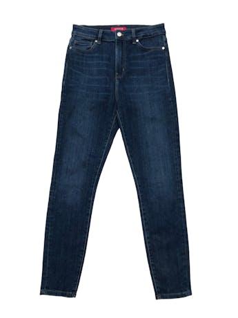 Skinny jean Guess corte cintura alta, stretch, con aplicacionesde strass en bolsillo trasero. Cintura 76cm sin estirar Largo 100cm. Precio original S/ 449 foto 1