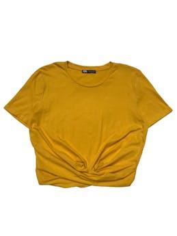 Polo Zara 100% algodón cruzado en la basta. Busto 98cm Largo 46cm foto 1