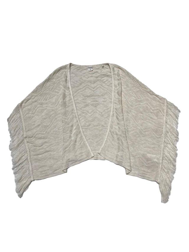 Capa Index tejida con flecos a los lados. Largo 60cm foto 1
