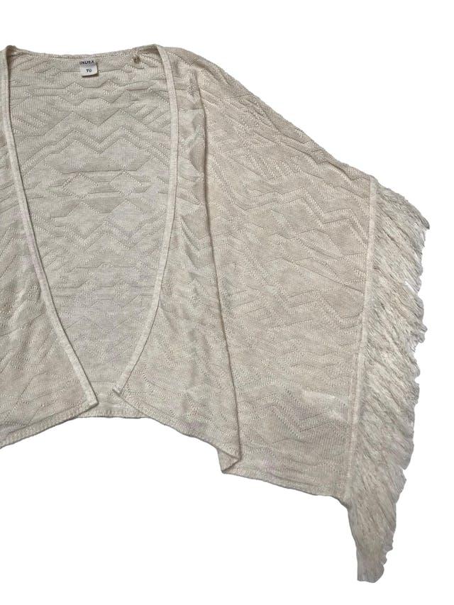 Capa Index tejida con flecos a los lados. Largo 60cm foto 2