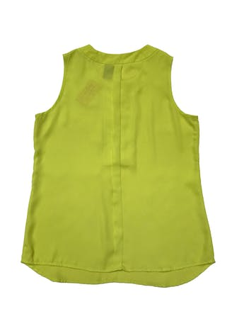 Blusa New Directions de gasa neón con cierre metálico dorado delantero. Busto 100cm Largo 65cm foto 2