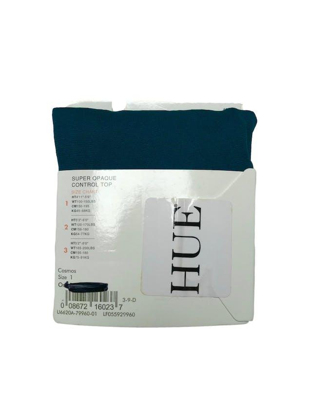 Panties Hue super Opaque control top. Color cosmos. Nueva empaquetada foto 2