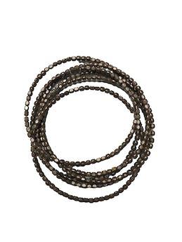 Seis pulsera metálicas entrelazadas. Diámetro 7cm foto 1