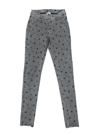 Legging H&M mezcla de algodón efecto lavado con print de estrellitas, estretch y cintura elástica. Pretina 66cm Largo 95cm foto 1