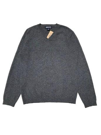 Chompa Lands End 100% cashmere gris, cuello V, riquísima al taco. Busto 102cm. Largo60 cm. Precio original $150 (600 soles) foto 1