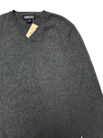 Chompa Lands End 100% cashmere gris, cuello V, riquísima al taco. Busto 102cm. Largo60 cm. Precio original $150 (600 soles) foto 2