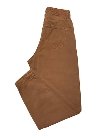 Slouchy jean Zara 100% algodón camel, tiro alto, modelo five pockets. Cintura 62cm Cadera 90cm Largo 98cm foto 2