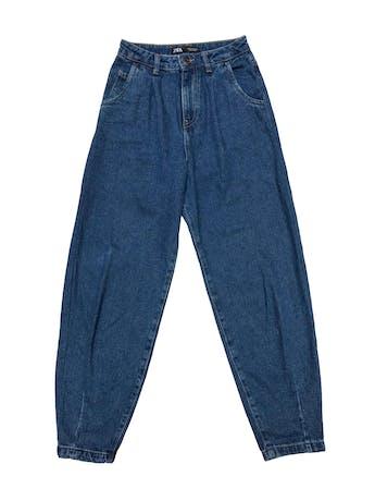 Slouchy jean Zara 100% algodón, tiro alto, modelo five pockets. Cintura 62cm Cadera 90cm Largo 98cm foto 1