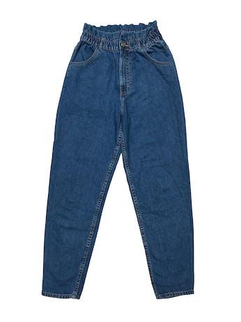 Paper bag jean Zara, tiro alto, bolsillos laterales y posteriores. Cintura 66cm sin estirar Cadera 94cm Largo 100cm foto 1