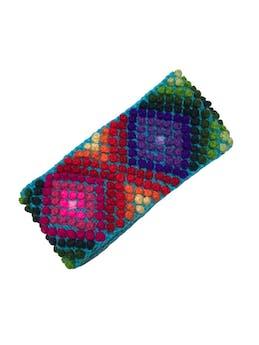 Vincha tejida multicolor. Ancho 10cm foto 1