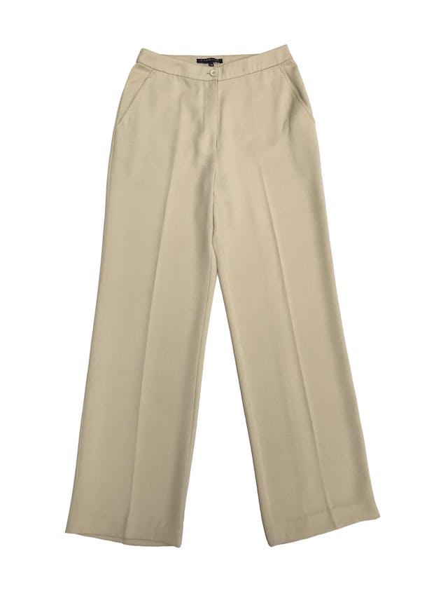 Pantalón Marquis color maíz, a la cintura, corte recto, con bolsillos laterales. ¡Lindo!  Cintura 68cm foto 1