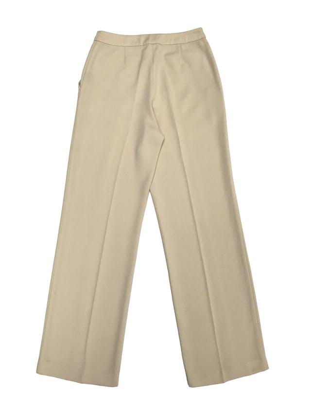Pantalón Marquis color maíz, a la cintura, corte recto, con bolsillos laterales. ¡Lindo!  Cintura 68cm foto 2