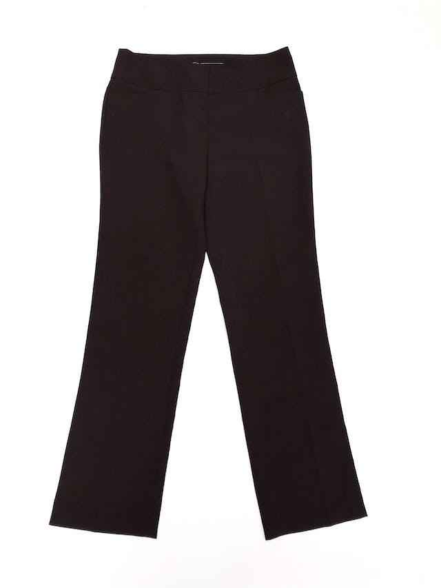 Pantalón Marquis de vestir marrón con bolsillos laterales y posteriores, corte recto foto 1