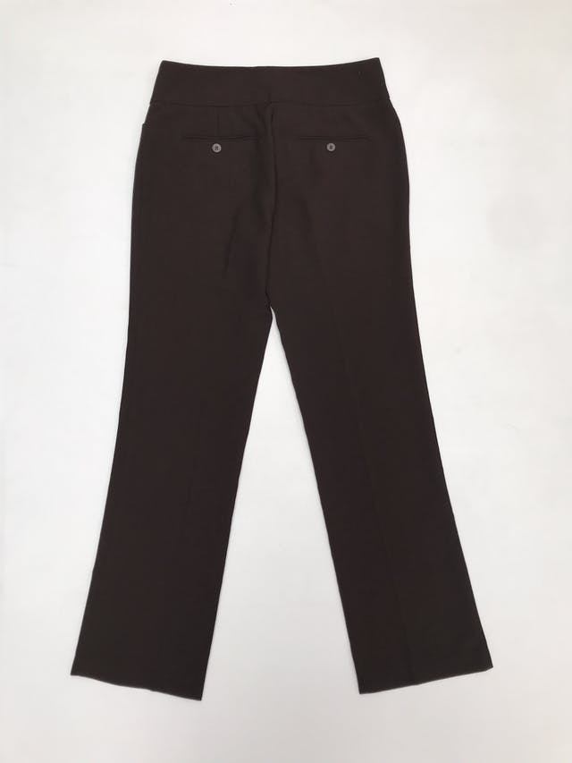 Pantalón Marquis de vestir marrón con bolsillos laterales y posteriores, corte recto foto 2